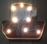 LEDライティングウォールサイイン Coffee Shop