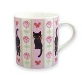 【Ribbon Cat】マグカップ (リボンキャット フラワー)