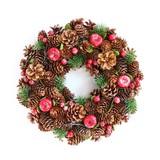 <<クリスマスリース>>★■X'mas/  ★Wreath-Red apple & Pinecone