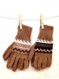 【アルパカ100%】ペルー産 ハンドメイド手袋