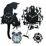【人気のネコちゃん♪】振り子時計&掛け時計