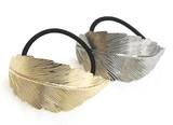 Hair Elastic Metal Large Format Leaf Leaf Color
