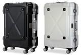 【直送可】背面収納機能つき平フレームトラベルスーツケース「OUTDOOR」