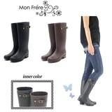 ☆モンフレールのレインブーツ☆/防水/台風/梅雨/長靴/ファッションレイン/ロング