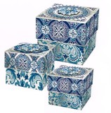 パンチスタジオ クリスマス ブローチトリンケットボックス <ブルー×シルバー>