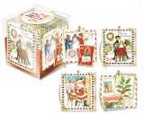 パンチスタジオ クリスマス ギフトタグキューブ <サンタ×切手> 16枚入