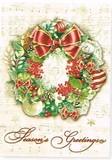 PUNCH STUDIO  クリスマスカード 3Dレイヤー リース