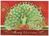 PUNCH STUDIO  クリスマスカード 3Dレイヤー 孔雀
