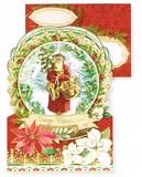 PUNCH STUDIO  クリスマスカード 3Dレイヤー サンタクロース