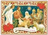 PUNCH STUDIO  クリスマスカード 3Dレイヤー キリスト降誕