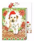 パンチスタジオ クリスマス向き ポケットノートパッド <犬>
