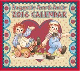 ラガディー Am&Andyポストカード(卓上)カレンダー2016