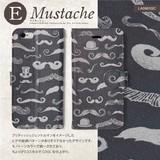 手帳型スマホケース 【マスタッシュ(髭)】