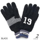 Excellent カジュアル メンズ 手袋 ナンバリングニット手袋 619035
