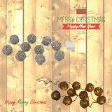 【直送可】【クリスマス】ガーランド10球ラタンボールGY