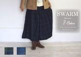 ブラックウォッチ リネン ガウチョパンツ■人気定番商品■NS-46073