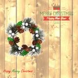 【直送可】【クリスマス】【リース】ミニリースパインシルバー