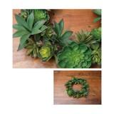 ミックスカクタスリース【緑】【観葉植物】【フェイクグリーン】【造花】