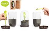 『Sprout Coffee Jar w/Spoon(スプラウト コーヒージャー)』葉っぱなスプーンがセットのコーヒージャー