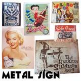 【アメ雑/インテリア】Metal Sign/メタルサイン/看板/プレート/ショップ/ディスプレイ/アメリカ/輸入