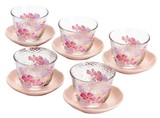 Glass Gift Hana hitohira Teacup Holder Glass Iced Tea Set
