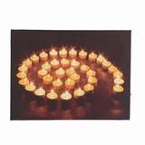 <<クリスマスLEDピクチャー>>☆■2015X'mas■  ★LED Picture Light-While candle