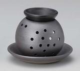 茶香炉 いぶし銀 [日本製]