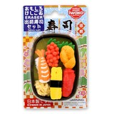 IWAKO Delivery Sushi Set Blister Pack Eraser 2 type