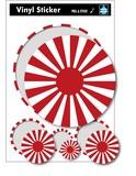 マジステ SK-202 日章旗 (旭日旗) 国旗サークルステッカー スーツケースステッカー