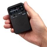 AM・FMアナログポケットラジオ ブラック