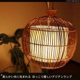 柔らかい光に包まれる ほっこり優しいアジアンランプ【バンブーコロンランプ】アジアン雑貨