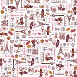 ペーパーナプキン20枚入 リサとガスパール パリのお散歩・ピンク