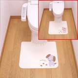 Toilet Mat Flower Toilet Mat Toilet Product Fluffy Adsorption Washing Easy