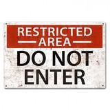 【スティールサイン】【ミリタリー】Restricted Area<看板> ★アメリカ製★