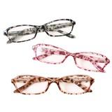 ケース&眼鏡拭き付き ヒョウ柄老眼鏡