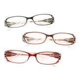 ケース&眼鏡拭き付き ラインストーン付き老眼鏡