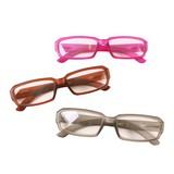ケース&眼鏡拭き付き スクエア型老眼鏡