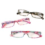 ケース&眼鏡拭き付き 花柄老眼鏡