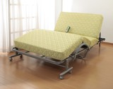 【直送可】【送料無料】極厚収納式電動リクライニングベッド 高反発スプリングマット仕様