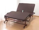 【直送可】【送料無料】立座り楽ちん電動リクライニングベッド 低反発メッシュ仕様収納式