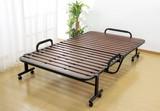 【直送可】【送料無料】立ち座り楽ちん天然木すのこ折りたたみベッド