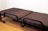 【直送可】【送料無料】立ち座り楽ちん3層構造マット収納式リクライニングベッド寝具セット付