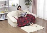 【直送可】【送料無料】かわいい電気ひざ掛け毛布(日本製)