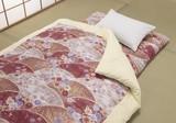 【直送可】【送料無料】日本製和柄布団掛・敷セット(同色) 高級綿サテン生地