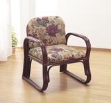 【直送可】【送料無料】天然籐思いやり座椅子