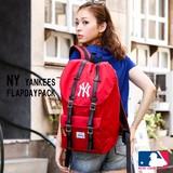 【当社生産 国内ライセンス】ヤンキース コーデュラ生地 フラップ リュック バッグ ねこ