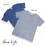 【即納】【2016年春夏新作】【GiveLife】パイルジャガードボーダーヘンリー Tシャツ<>