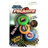 世界最小のフライングディスク Flickerz(フリッカーズ)ネオン 3パック
