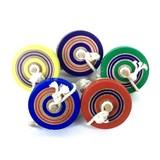 五色なげこま /国産 日本製/コマ回し/投げコマ/日本伝統玩具/伝承遊び