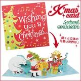 【アントレックス】可愛いクリスマスカード沢山♪【MGCカード(アニマルオーケストラ)】